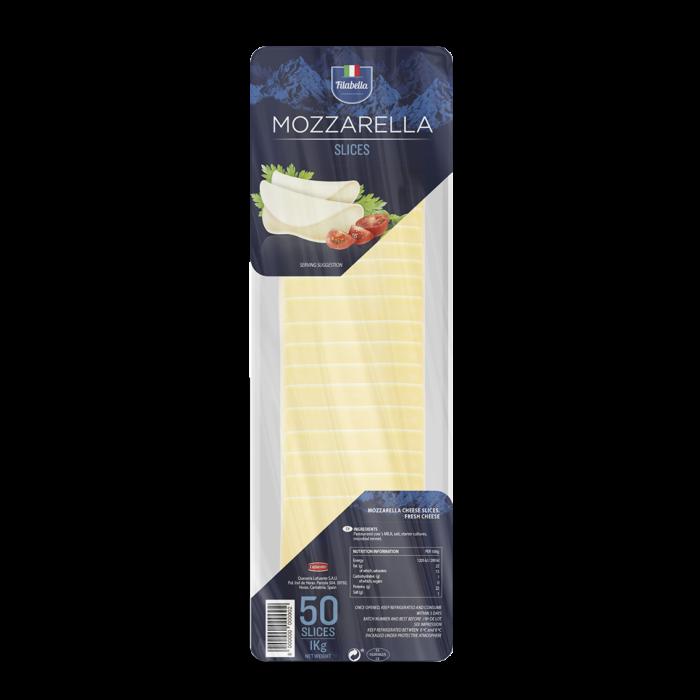 MOZZARELLA 50 SLICES, 1kg