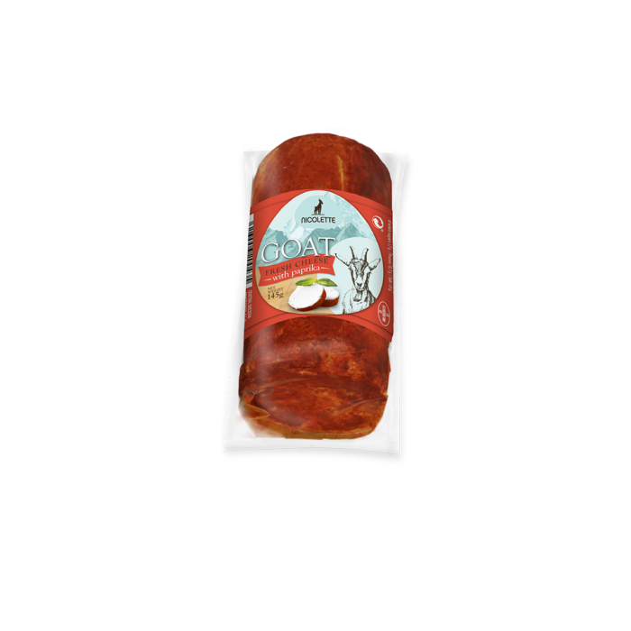 LOG GOAT FRESH CHEESE, 145g PAPRIKA