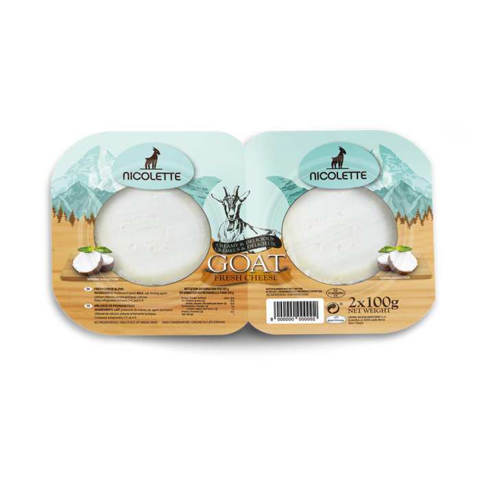 MEDALLION GOAT FRESH CHEESE, 2 X 100g