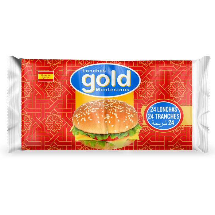 GOLD VEGETABLE FAT PROCESSED CHEESE 24 SLICES, 384g