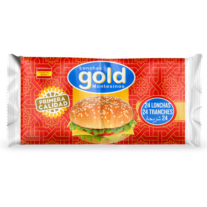 GOLD VEGETABLE FAT PROCESSED CHEESE 24 SLICES, 450g