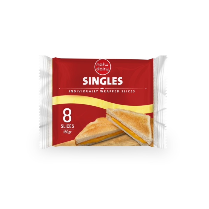 VEGETAL FAT PROCESSED CHEESE SLICES / SINGLES 8 SLICES, 150g