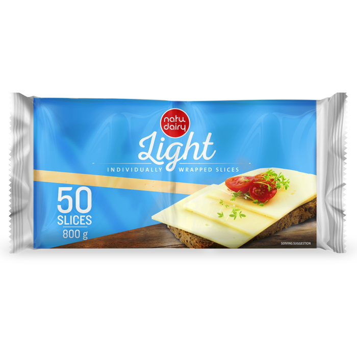 LIGHT SINGLES 50 SLICES, 800g